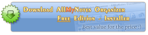 Download AllMyNotes Organizer Free Edition - the best personal treedbnotes alternative free utility.