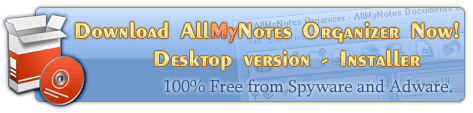 Download All My Notes Organizer Deluxe Edition - the best note-taking software ever!