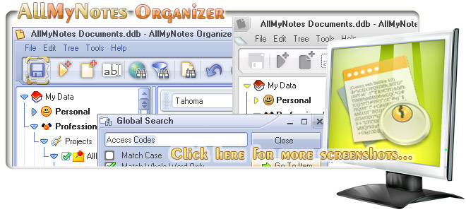 AllMyNotes Organizer - the best KeepNote alternative program - Screenshots